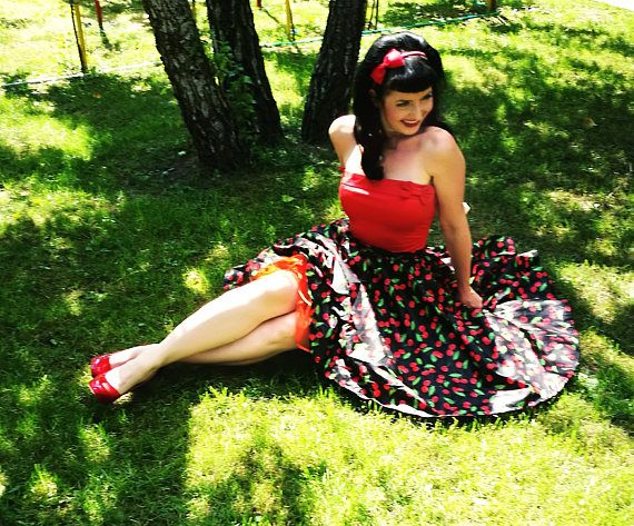 Hey, I found this really awesome Etsy listing at https://www.etsy.com/listing/540938075/pinup-skirt-black-cherries-with-pockets