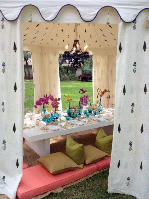 Moroccan themed dinner party tent by Caplan Miller Events