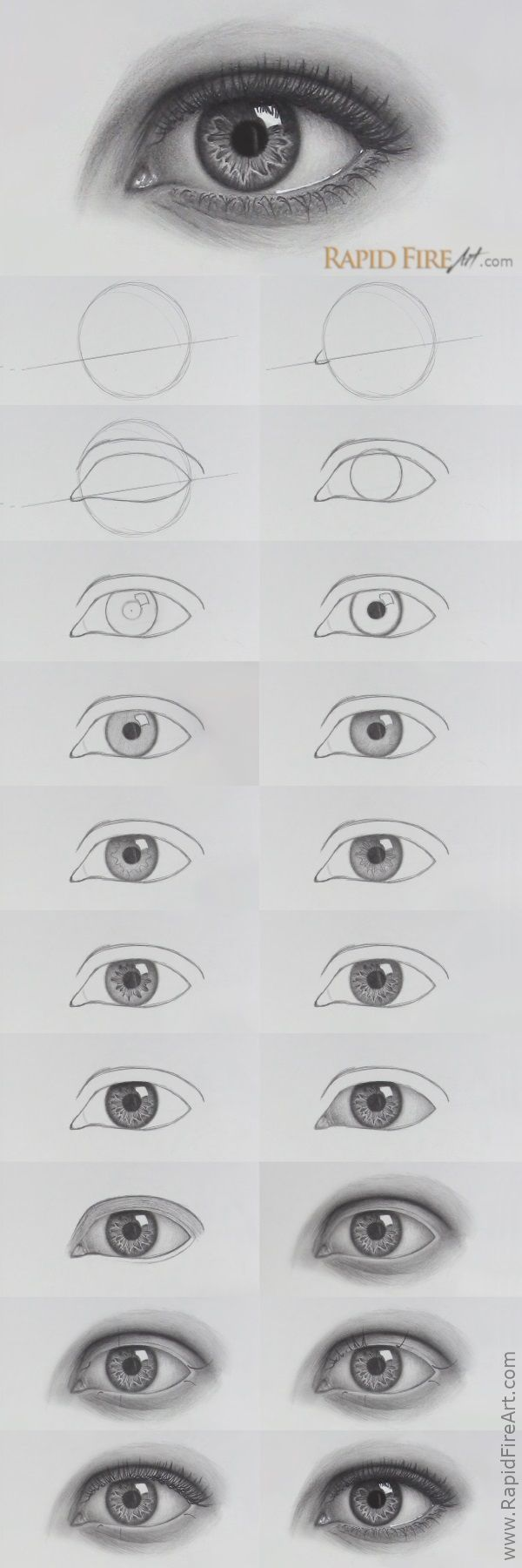 How to draw Realistic EYES | Steps #draw #Eyes #Re…