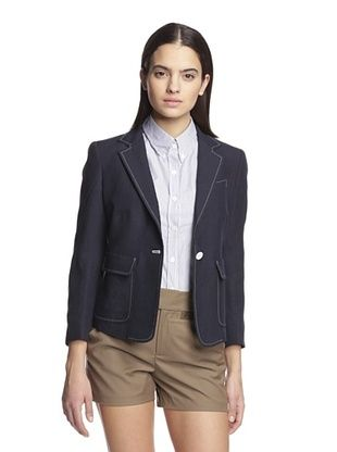 -14,800% OFF Band of Outsiders Women's Schoolboy Jacket (Navy)