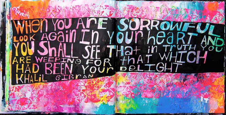 Art journal page by Tammy Garcia https://daisyyellowart.com