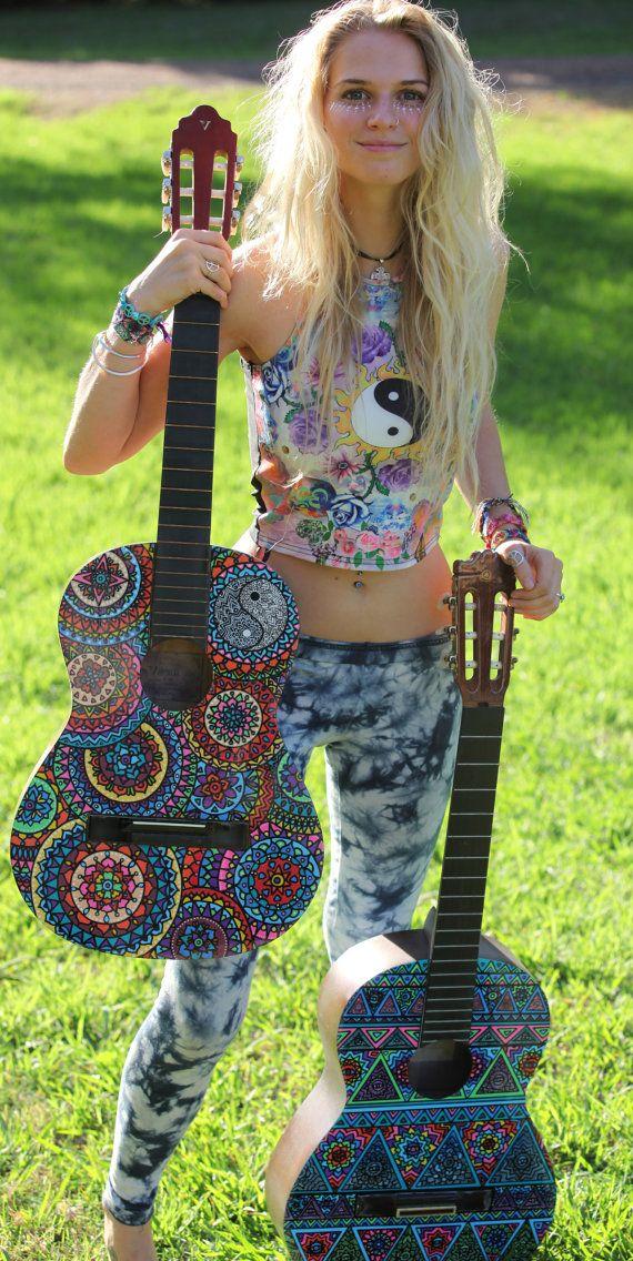 Custom Hand Painted Guitars on Etsy, $350.00 AUD