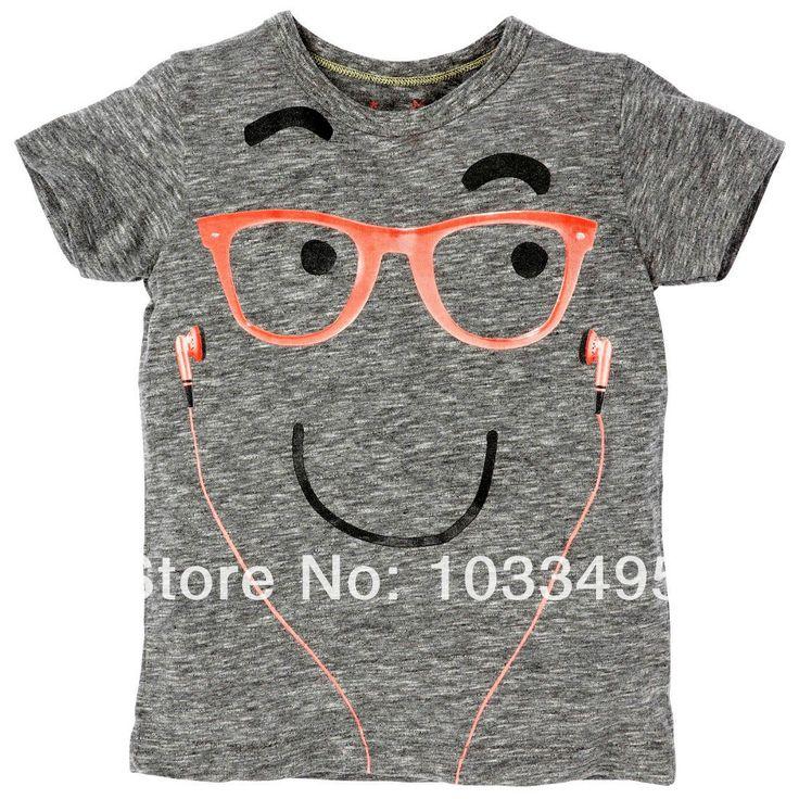 Free-Shipping-summer-kids-boys-t-shirts-glasses-headset-design-fashion-cotton-children-clothes-leisure-shirt.jpg (1000×1001)