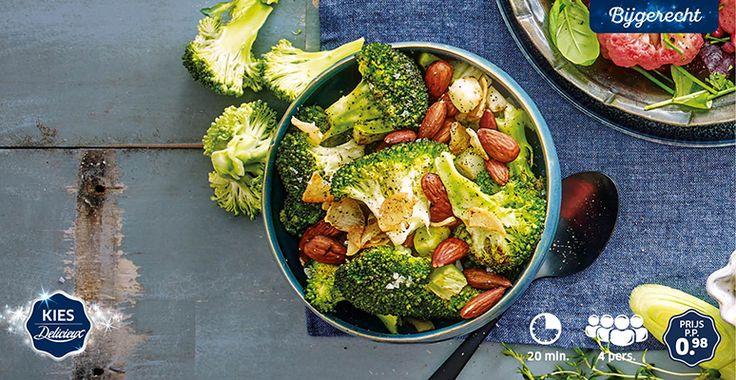 Gewokte broccoli met geroosterde nootjes en knoflook #Lidl #Kerst #Delicieux