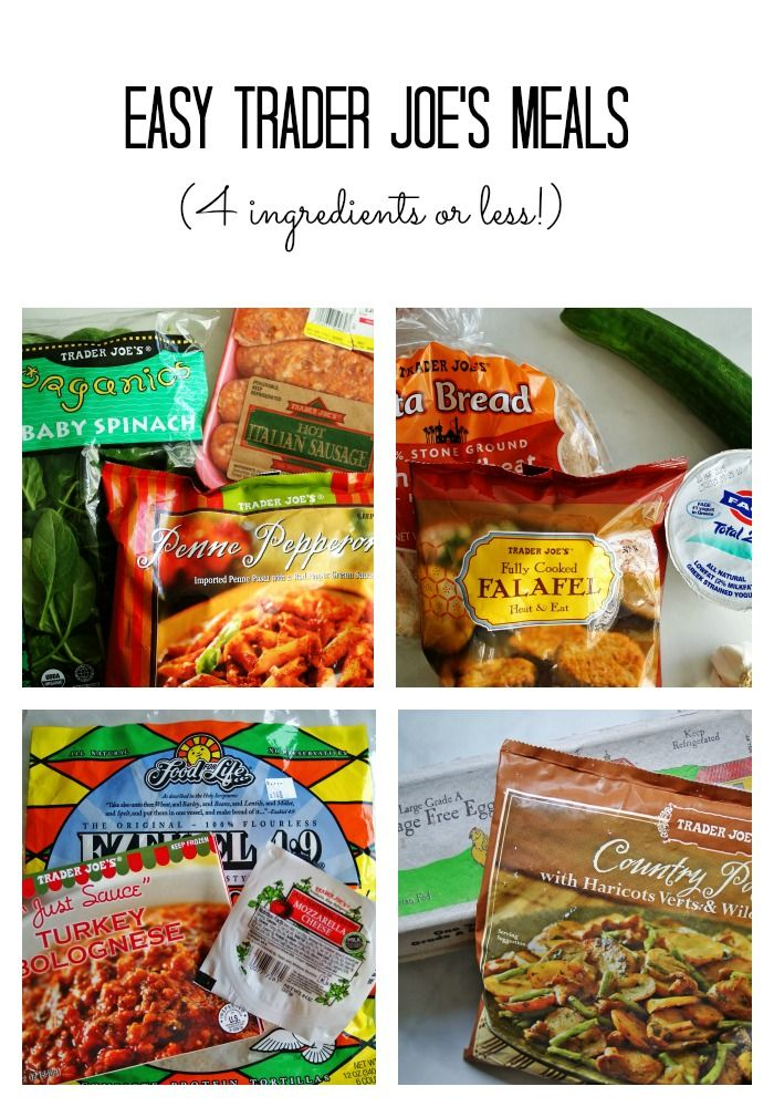 Easy Trader Joe's Recipes - 5 ingredients or less! | anutritionisteats.com