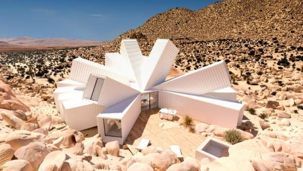It may look like a starburst anemone, but this is the Joshua Tree Residence, a shipping container house designed by ...