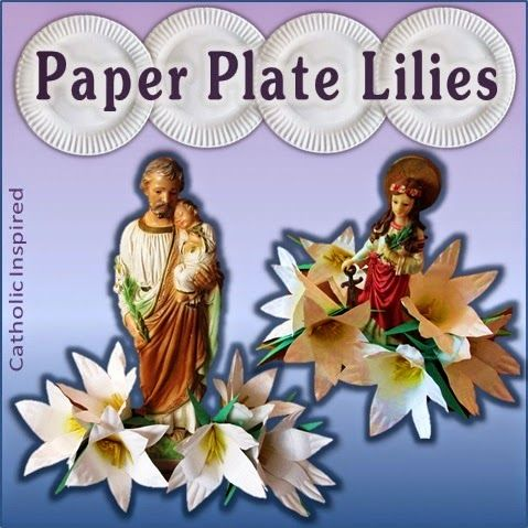 Paper Plate Lilies Super Easy Catholic Inspired Ccd