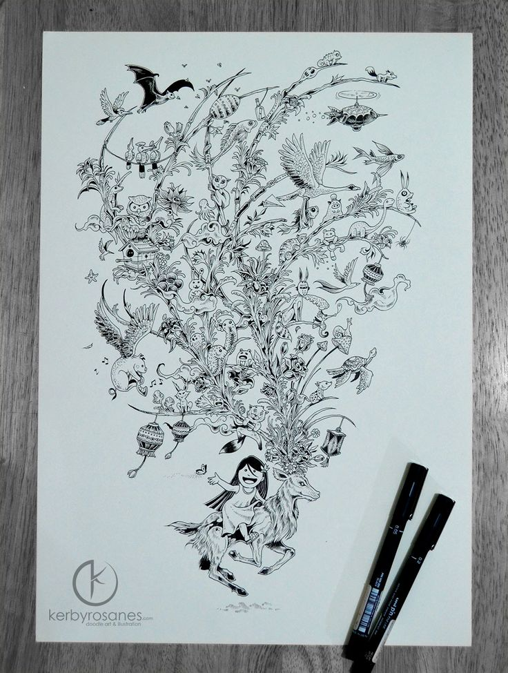 567 best Artist Kerby Rosanes images on Pinterest | Doodles, Drawing ...