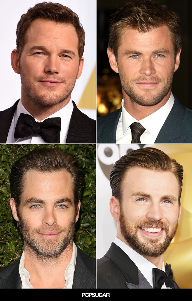 Chris Pratt, Chris Hemsworth, Chris Pine, Chris Evans — 'tis the season for superhot Chrises in Hollywood!