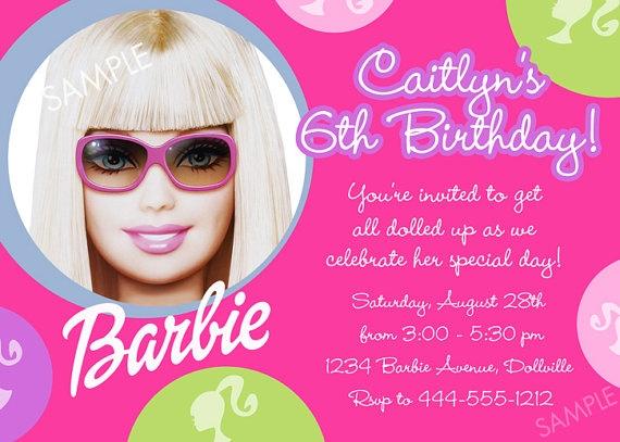 Barbie birthday invite idea