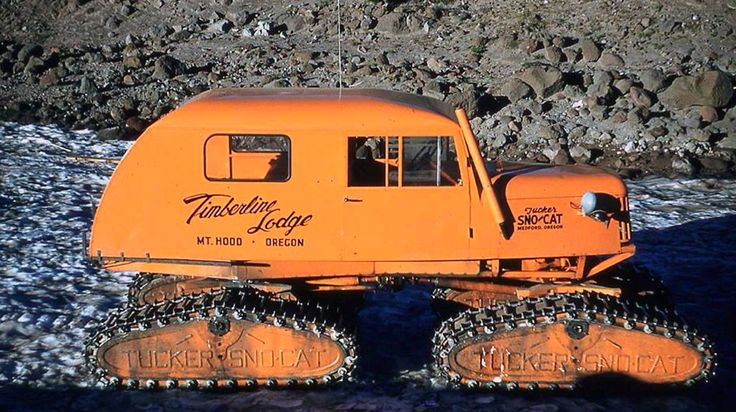 Tucker Snowcat ; I loved these as a kid....K PS - I just looked at this more closely, and it's from my local snow spot, Timberline Lodge, Mt Hood, Oregon....where they shot 'The Shining'....K