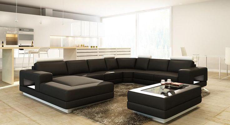 Divani Casa 5106 Modern Bonded Leather Sectional Sofa