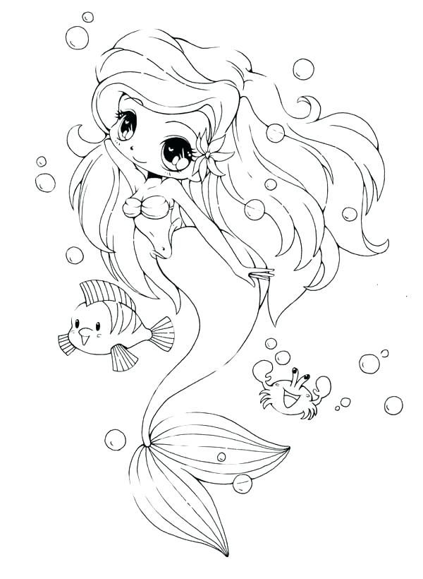 Cool Mermaid Coloring Pages To Spend Your Free Time At Home Chibi Coloring Pages Mermaid Coloring Pages Cute Coloring Pages