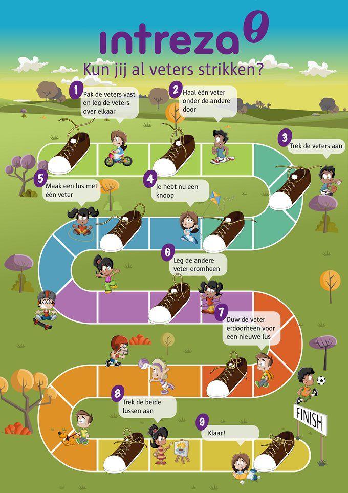 Leer veters strikken! Infographic 'Kun jij al je veters strikken?'