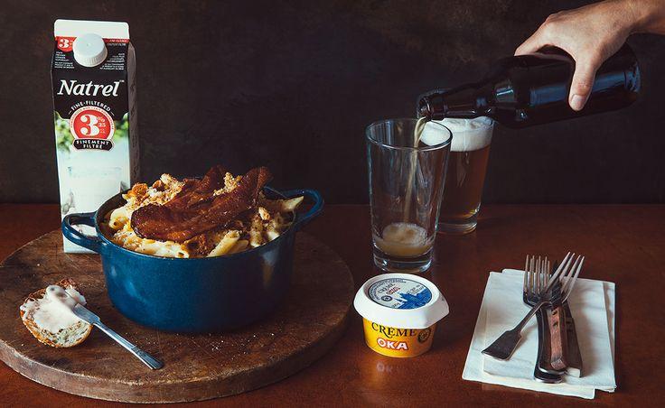 Notre recette de Macaroni au fromage crème OKA — Semaine 7 : Bières artisanales | Natrel | Natrel