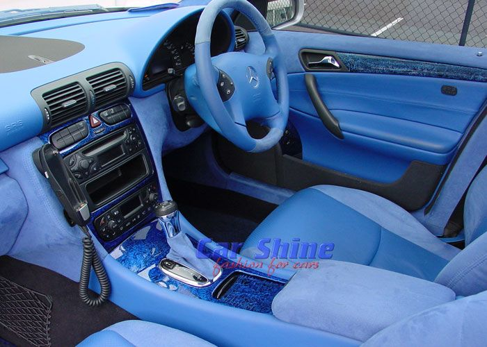 Custom Car Interior Blue Images