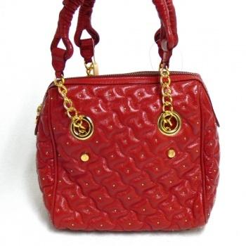 Silvio Tossi Edeltasche Handtasche aus weichem Leder 10735-12 Rot