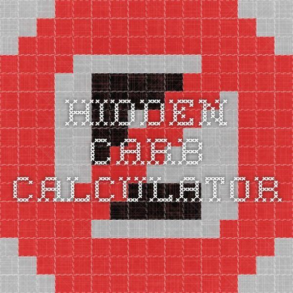 Hidden Carb Calculator