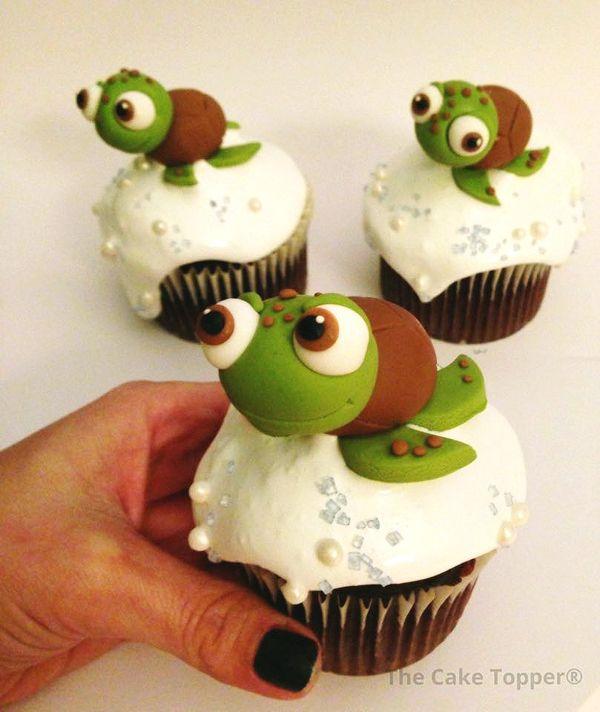 Sea Turtle Cupcake Topper | Satin Ice