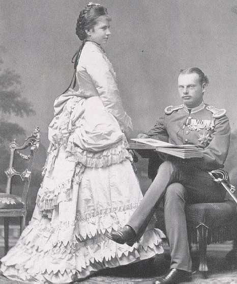 Their Royal Highnesses Prince Leopold and Princess Gisela of Bavaria. Married: April 20, 1873