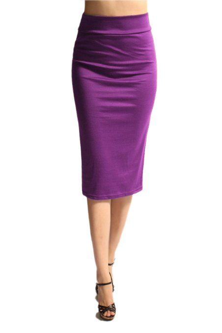 Amazon.com: Women'S Ponte Roma From Office Wear to Casual Below Knee Pencil Skirt - Black S: Clothing