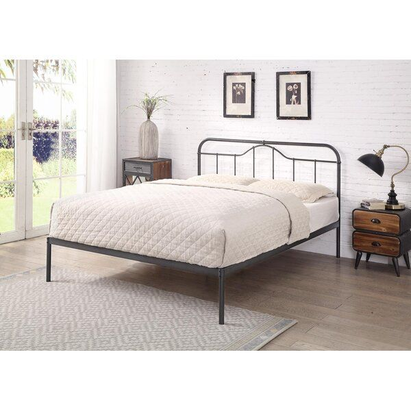 Mcgowan Bed Frame In 2020 Bed Metal Beds Bed Frame