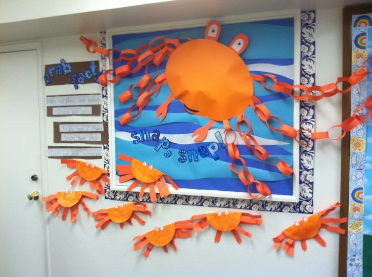 Carrie Wilson: feeling crabby... Snap snap crab facts and crafts... Kids make the paper chain arms. So much ocean fun!