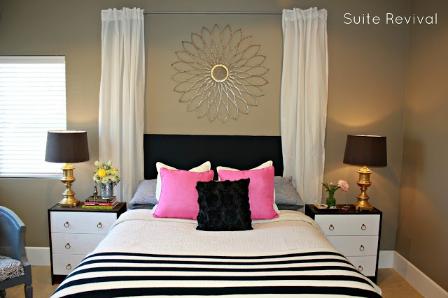 Navy And Gold Bedside Lamps: Navy, Pink, And Gold Bedroom I Dont Like The Wall Color