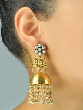 Pakshi Pearl Jhumka Earrings