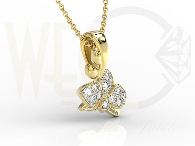 Wisiorek z żółtego złota z cyrkoniami/ Pendant made from yellow gold with zircons/ 388 PLN  #pendant #jeweller #gift #gold