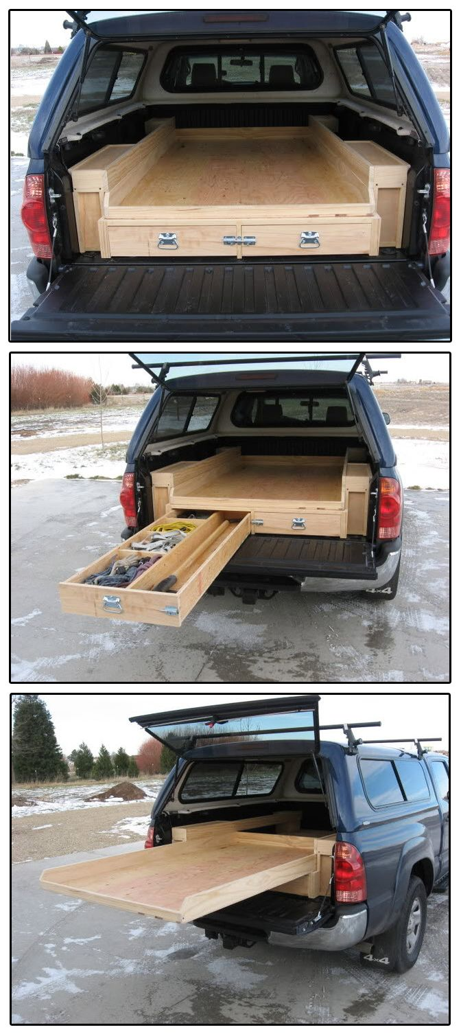 25 best ideas about truck bed storage on pinterest build a dodge truck bed and best - Diy truck bed storage ...