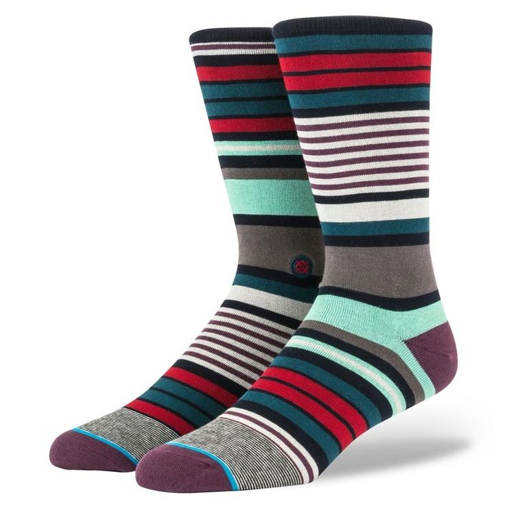 Stance | Charles Navy Navy, Black, Red, Green socks | Buy at the Official website Stance.com.