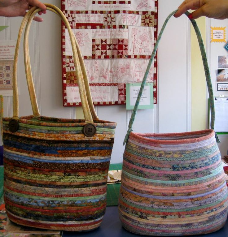 fabric wrap coil bag