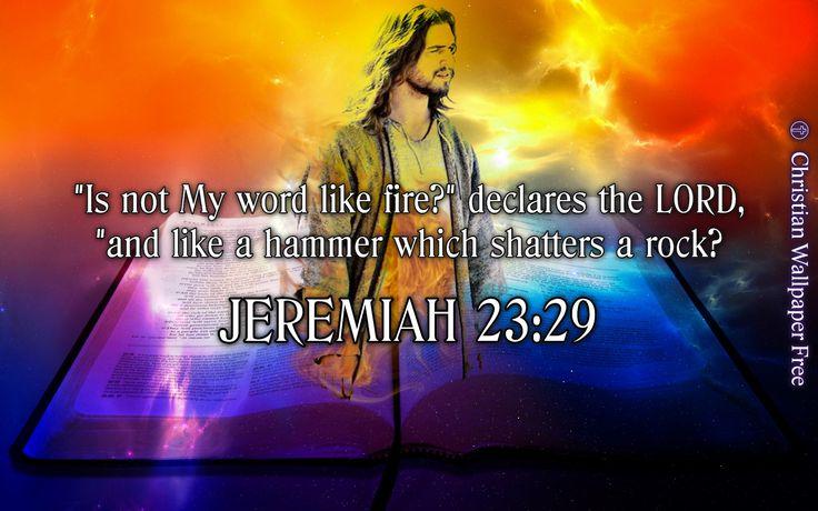 Jeremiah 23 Verse 29 NAS
