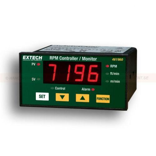 """http://handinstrument.se/tachometer-stroboskop-r1243/varvtalsmatare-i-panelutforande-53-461960-r1265  Varvtalsmätare i panelutförande  Visas i RPM, m / min, och fot / min  Stor 0,5 """"(13mm) 4-siffrig LED-display  Taktil knappsats för enkel programmering  RS-232 gränssnitt med valfri programvara  Valfritt närhet och foto sensorer Garanti: 2 År Leveranstid: 4-5 Veckor"""