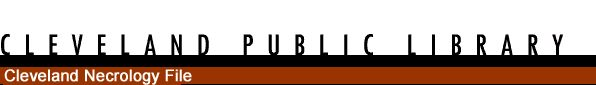 Cleveland Public Library - Obituary File