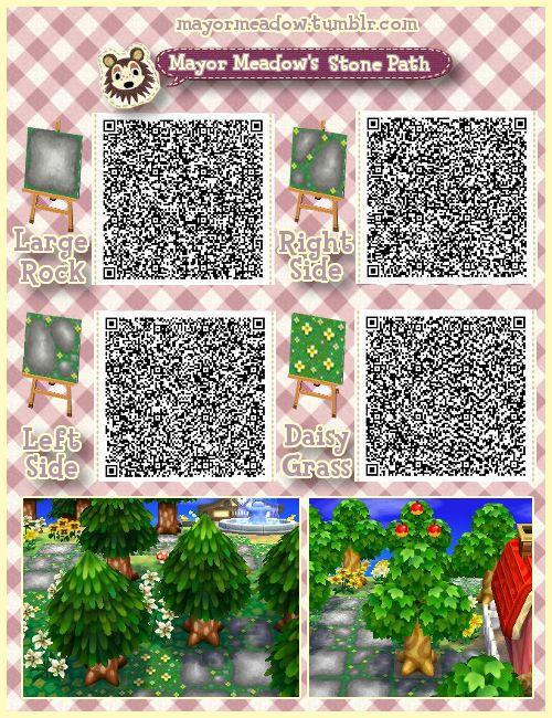 Mayor Meadow's Stone Path ACNLQR