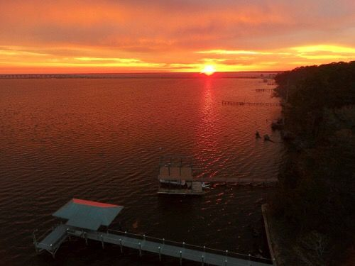Choctawhatchee Bay sunrise this morning... photo from Mary Beth Davis