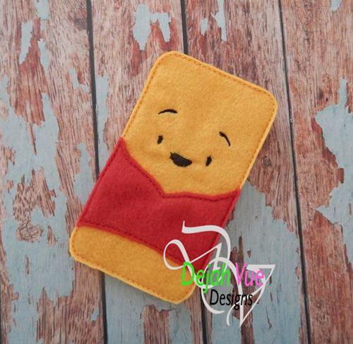 Pooh Phone Case ITH Embroidey Design - Dejah Vue Designs