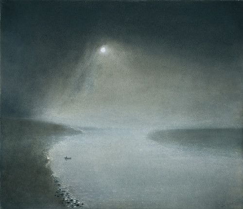 'Nocturne in Silver' by British artist Richard Cartwright (b.1951). Pastel, 21 x 24 in. via John Martin Gallery