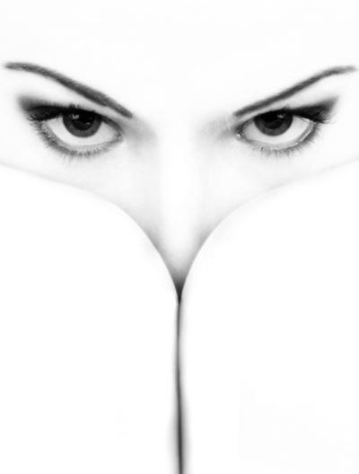 Hiding white face