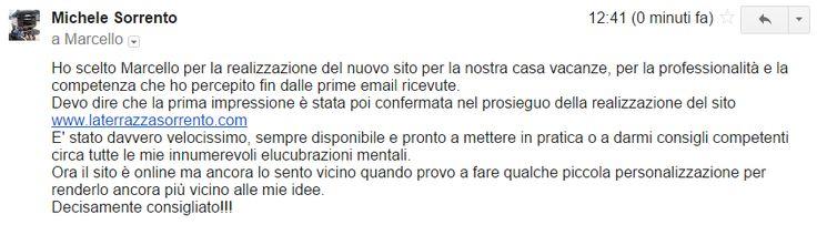 Tanto per cominciare bene la settimana :-) Grazie Michele!  Sito web per B&B => http://www.siamoalcompleto.it/sito-beb/