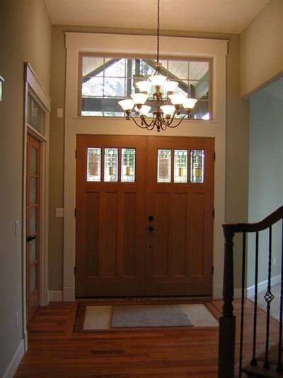 3 windows double front doors - Double Front Doors