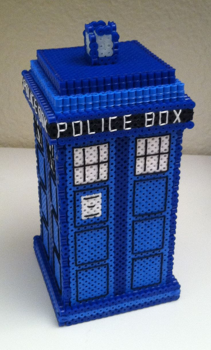 perler bead tardis pattern with instructionsBeads Tutorials, Fused Beads, Beads Projects, Beads Tardis, Perler Beads, Tardis Perler, Crafts Stores, Beads Pattern, Tardis Pattern