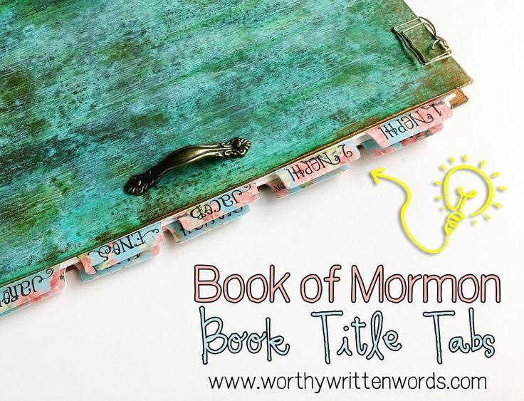 Tabs Volume 2- Book of Mormon Book Titles
