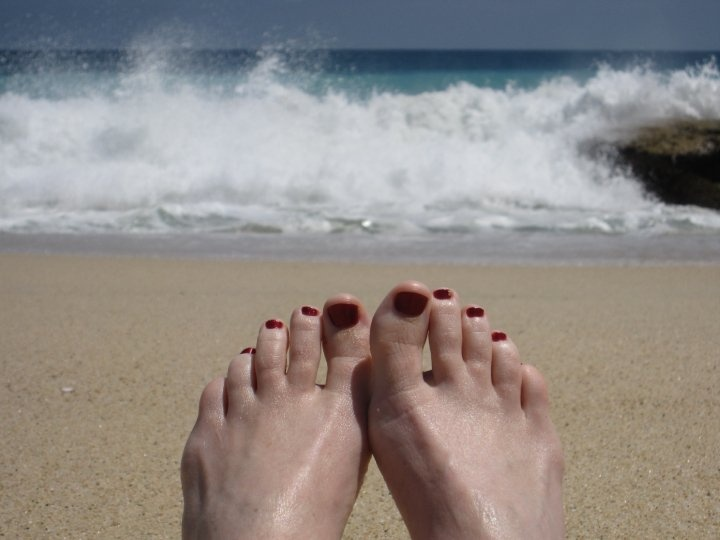 Toes in Cabo