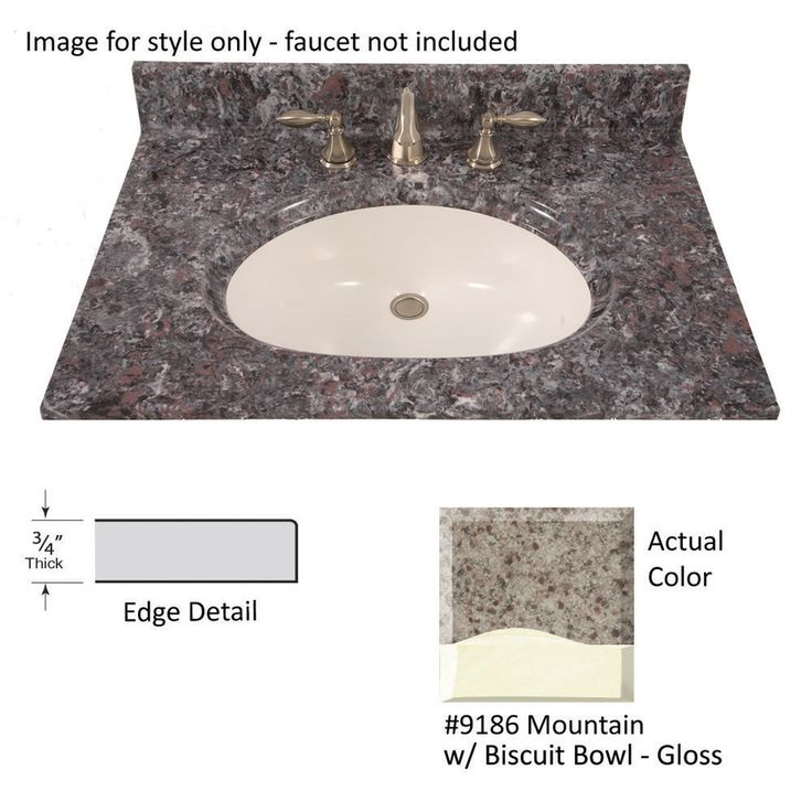 Shop Us Marble 43 In W X 22 In D Mountain Cultured Marble Single Sink Vanity Top At