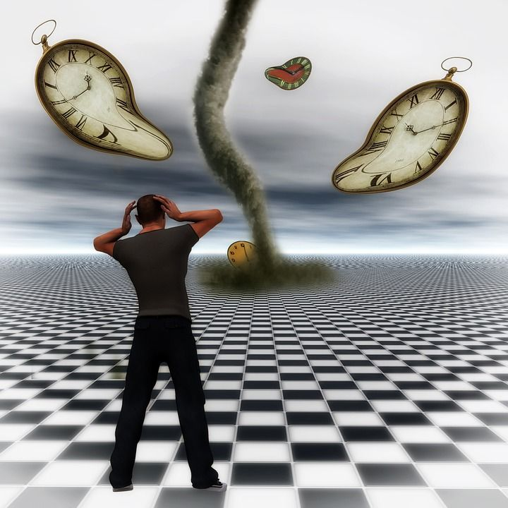 Surreal, Mann, Zeit, Digital Art, Vergeht, Vergänglich