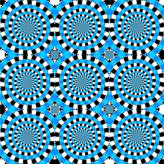 Black n blue dress illusion optique