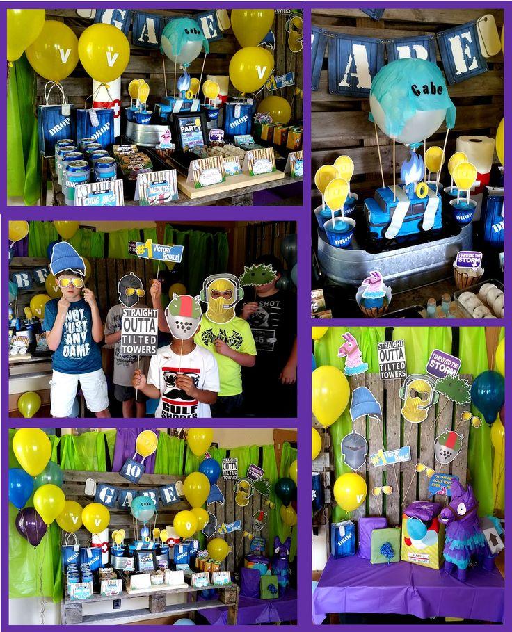Fortnite birthday party decorations, Fortnite birthday
